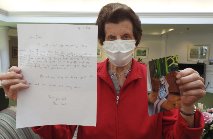 Springhill Resident Shows Off Pen Pal Letter