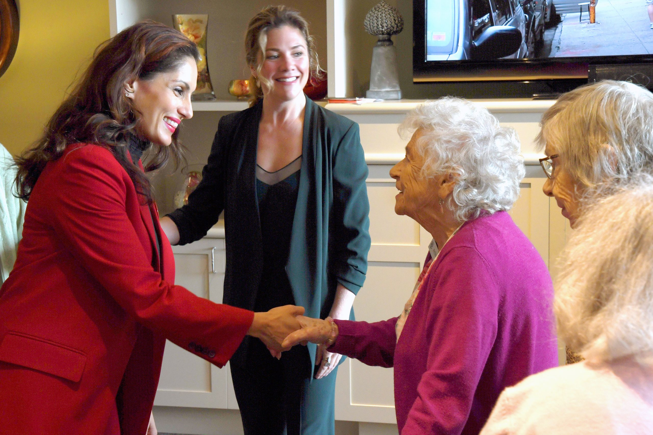 Neelam Brar visiting senior homes with Sophie Trudeau, the first lady of Canada